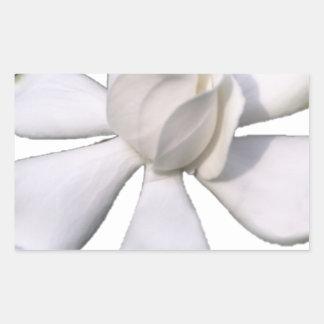 White Gardenia Bud 201711g Rectangular Sticker