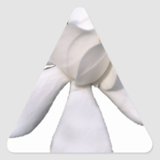 White Gardenia Bud 201711g Triangle Sticker