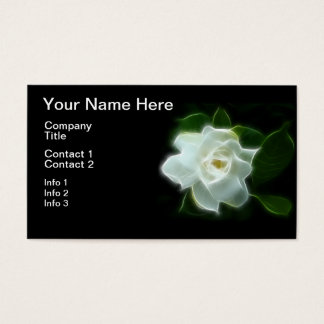 White Gardenia Flower Plant Business Card