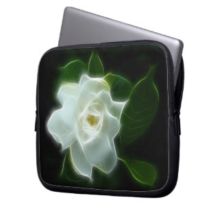 White Gardenia Flower Plant Laptop Sleeve