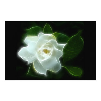 White Gardenia Flower Plant Personalized Stationery