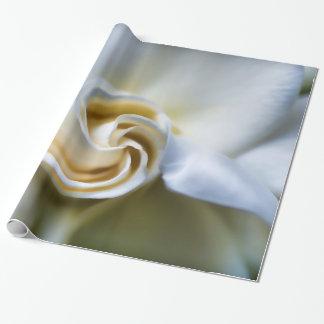 White Gardenia Illustration Wrapping Paper