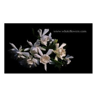 White Gardenias Floral Business Card