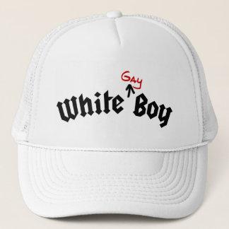 White Gay Boy Hat