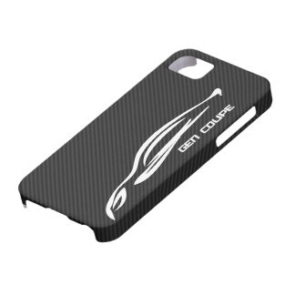 White GEN COUPE Logo Barely There iPhone 5 Case