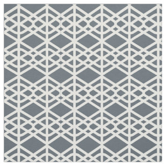 White geometric on dark background fabric 1