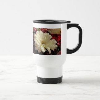 White Gerbera Daisy Mug
