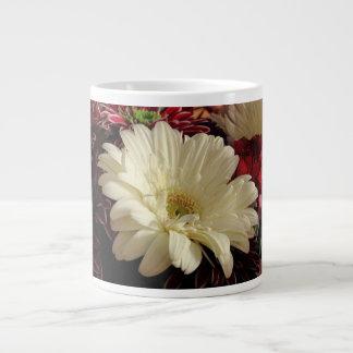White Gerbera Daisy Extra Large Mug