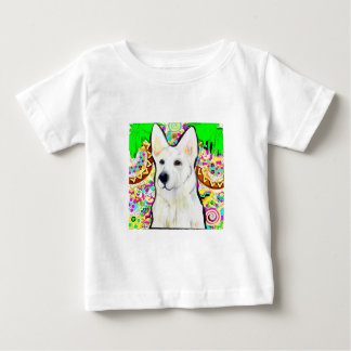 White German Shepherd Bling Baby T-Shirt