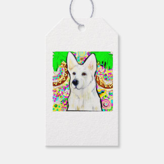 White German Shepherd Bling Gift Tags