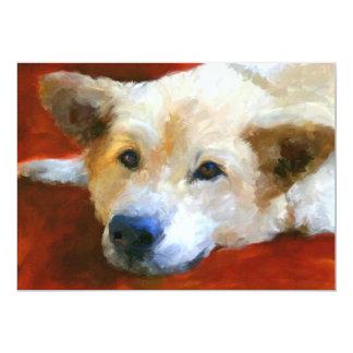 White German Shepherd Dog 5x7 Mini Prints 13 Cm X 18 Cm Invitation Card