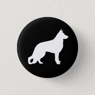 White German Shepherd Dog Silhouette 3 Cm Round Badge