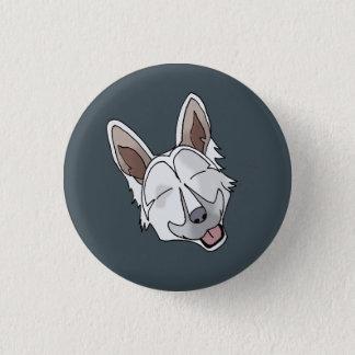 White German Shepherd Dog Smiling 3 Cm Round Badge