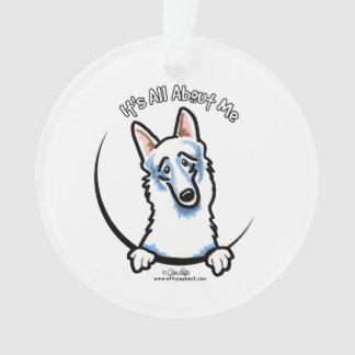 White German Shepherd IAAM Ornament