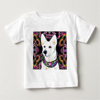 White German Shepherd Mardi Gras Baby T-Shirt