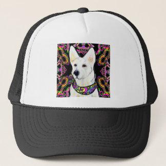 White German Shepherd Mardi Gras Trucker Hat