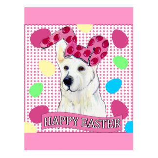 WHITE GERMAN SHEPHERD POSTCARD