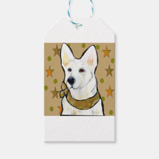White German Shepherd Soldier Gift Tags