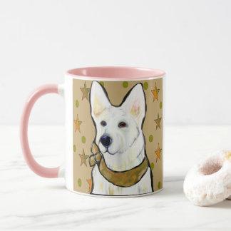 White German Shepherd Soldier Mug