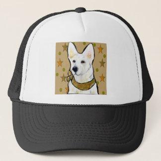 White German Shepherd Soldier Trucker Hat