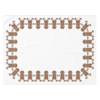 White Gingerbread Boys Tablecloth