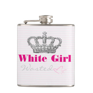 White Girl Wasted Flask