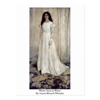 White Girls In White By James Mcneill Whistler Postcard