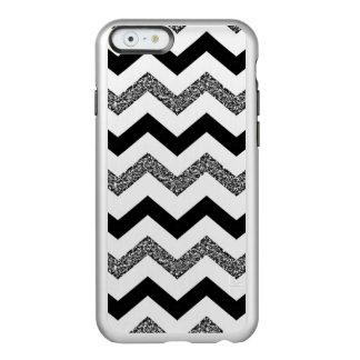 White Glitter Chevron Incipio Feather® Shine iPhone 6 Case