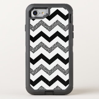 White Glitter Chevron iPhone 7 Otterbox Case