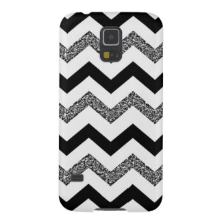 White Glitter Chevron Samsung Galaxy S5 Phone Case