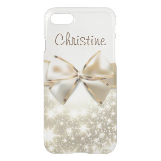 White Glitter Chic Gold Uncommon iPhone 8/7 Case