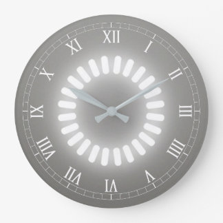 White Glow Large Clock