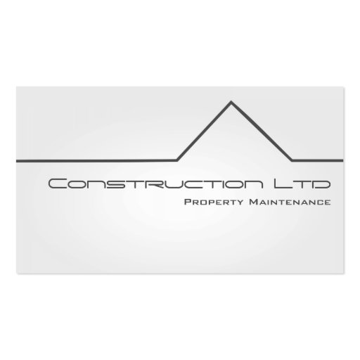 White Glow Property Maintenance Business Card Business Card Template