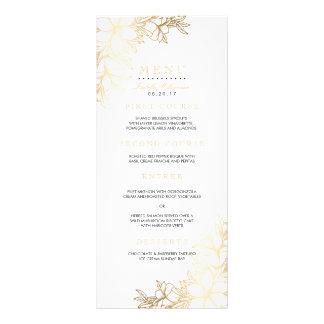 White & Gold Floral Engagement Party Menu