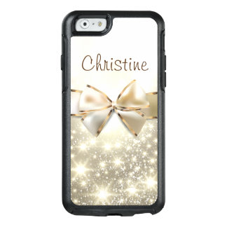 White Gold Glitter Chic OtterBox iPhone 6/6s Case
