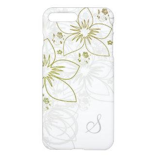 White Gold Grey iPhone 7/8 Floral Monogram Case