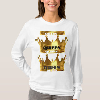 White Gold Queen long Sleeve T T-Shirt