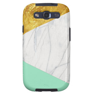 White Gold Teal Marble Samsung Galaxy S3 Covers