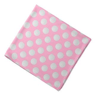 White Golf Balls on Carnation Pink Bandana
