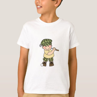 White Golfer Boy T-Shirt