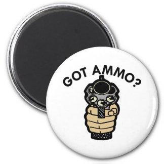White Got Ammo Pistol 6 Cm Round Magnet