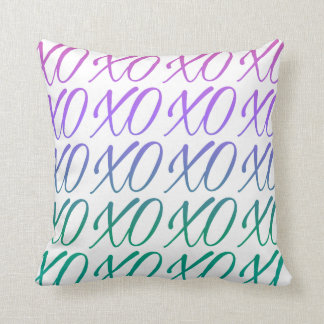 White Gradient Hugs & Kisses Throw Pillow