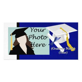 White Graduation Cap Photo Card