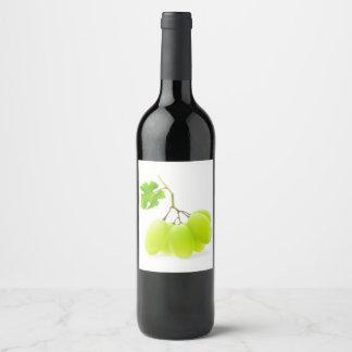 White grapes wine label
