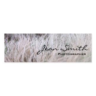 White Grass Field Photographer Mini Business Card