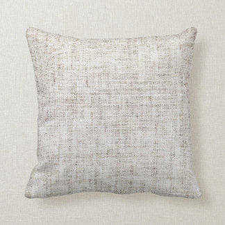 White Gray Burlap Texture Cushion