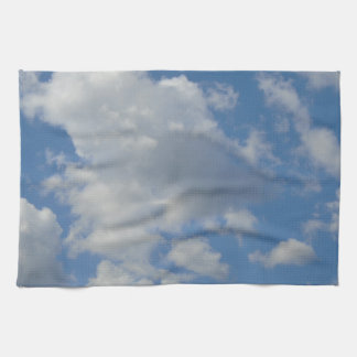 White/Gray Clouds and Blue Sky Kitchen Towel