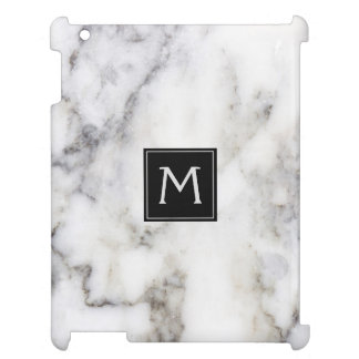 White & Gray Marble Stone Cover For The iPad 2 3 4