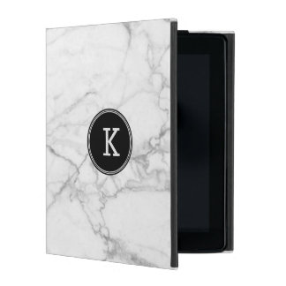 White & Gray Marble Texture iPad Case