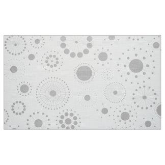 White & Gray Modern Geometric Pattern Fabric